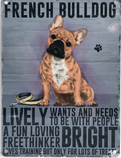 Frenchie Metal Sign - [presents_for_him_and_her].