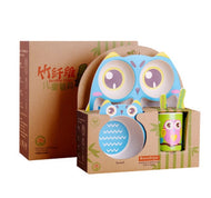 5Pcs/Set Baby Dish Tableware Eco Bamboo Fiber Set - [presents_for_him_and_her].