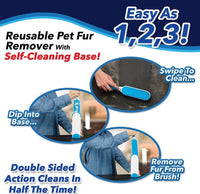 2 pcs  Pet Hair Remover Static Brush Magic Fur Cleaning Brushes Reusable - [presents_for_him_and_her].