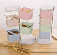 Wheat Straw Storage Rack Set - Eco-Friendly - [presents_for_him_and_her].