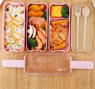 3 Layer Wheat Straw Bento Boxes - [presents_for_him_and_her].