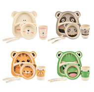 5pcs/Set 100% Bamboo Children Tableware Set - [presents_for_him_and_her].