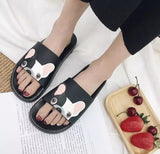 Cute French Bulldog Beach Sandals - [presents_for_him_and_her].
