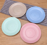 4Pcs Eco Wheat Straw Plate Dish Sets - [presents_for_him_and_her].