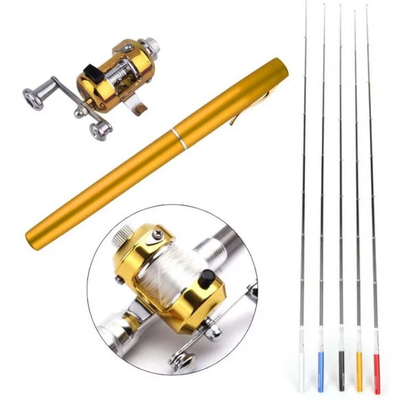 The Amazing Portable Pocket Telescopic Fishing Rod Pen - [presents_for_him_and_her].