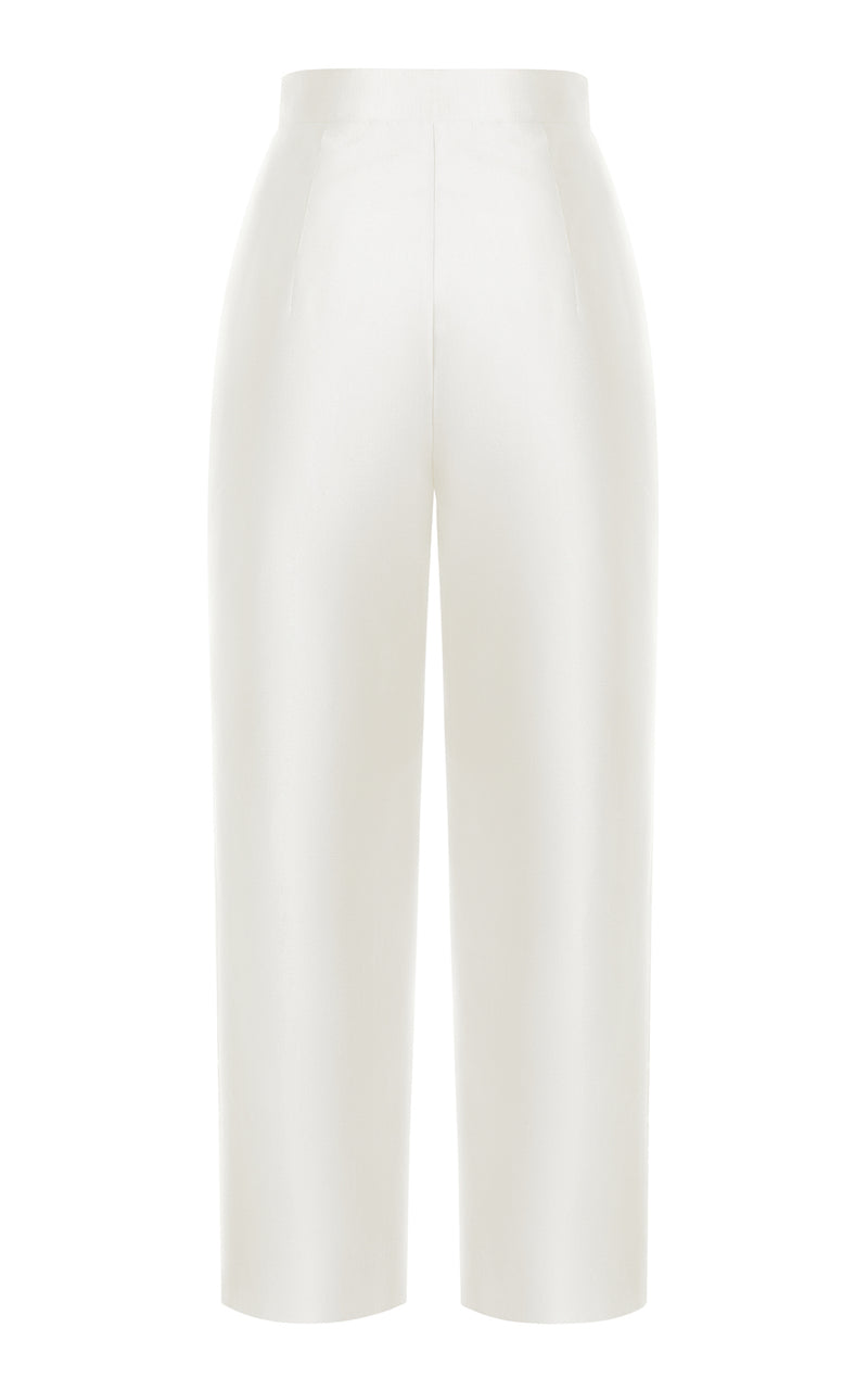 CROPPED SILK PANTS