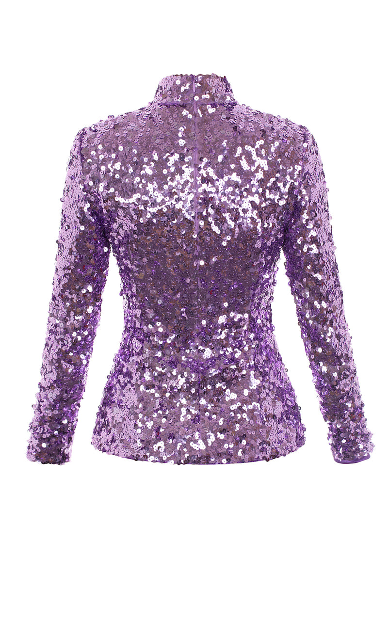 SEQUIN FITTED TOP