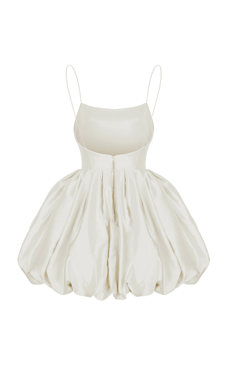 SILK BALLOON CORSET MINI DRESS