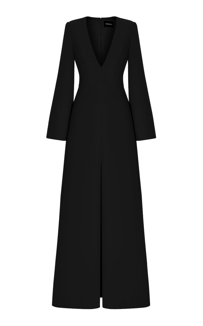 CREPE DRESS WITH A SLIT