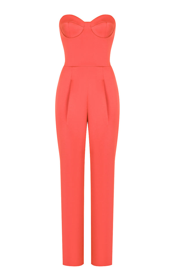 SWEETHEART SATIN CORSET JUMPSUIT