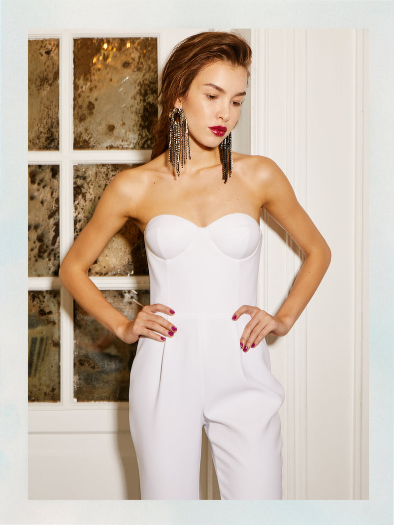 CREPE JUMPSUIT WITH THE CORSET