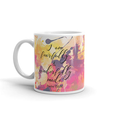 "Christian Faith Mug - ""I am fearfully and wonderfully made."" ~Psalm 139:14"