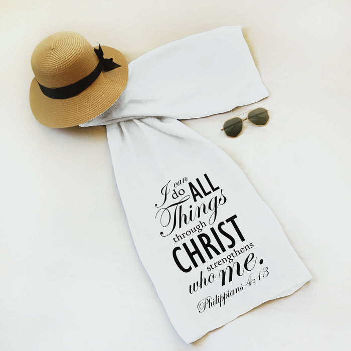 "Christian Faith Scarf - ""I can do all things through Christ who strengthens me."" ~Philippians 4:13"
