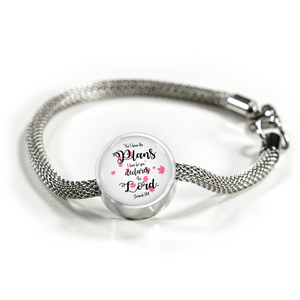 Jeremiah 29:11 - Circle Charm (Luxury Steel Bracelet)