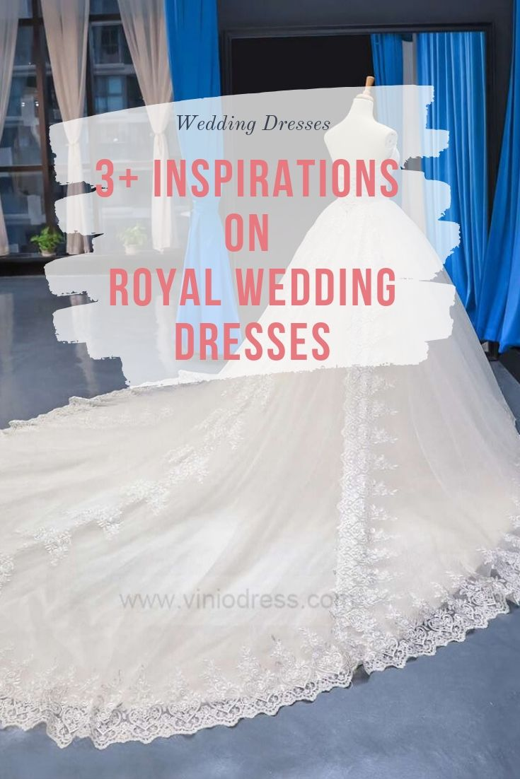 Cathedral length royal wedding dresses Viniodress