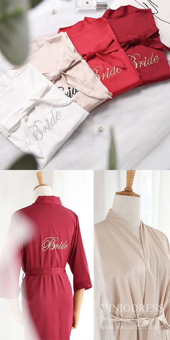 wedding robes, bridesmaid robes, bridal robes. Viniodress