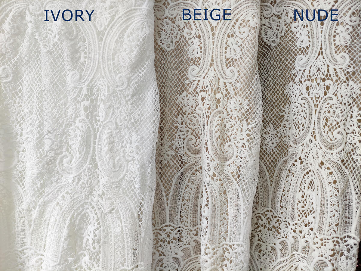 rustic wedding dresses, differences between ivory, nude