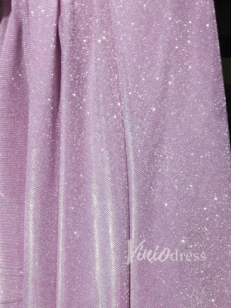 prom dresses-Sparkling Pink Prom Dresses with Pockets Formal Dress FD1295-Viniodress
