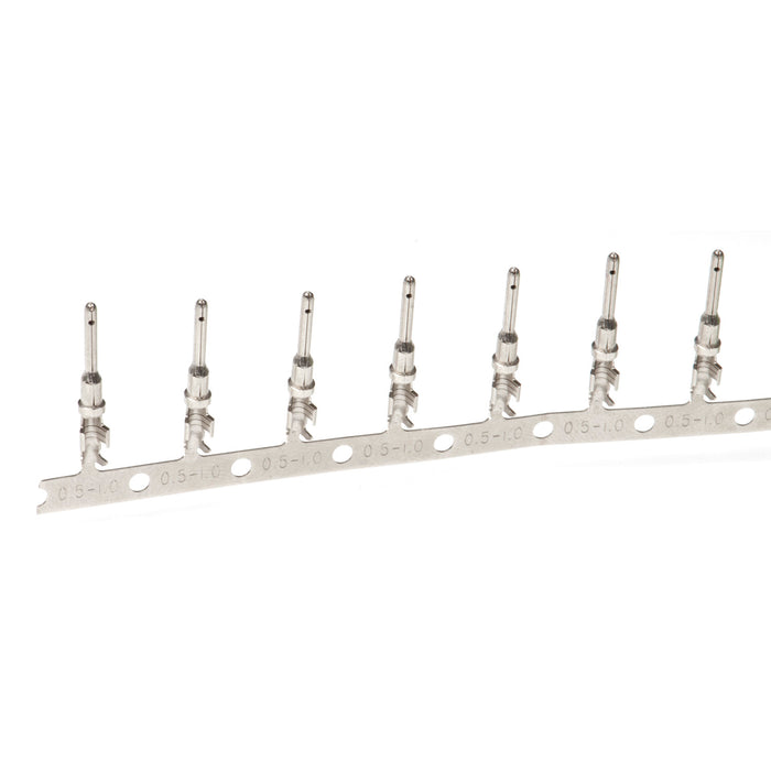 1060-16-0122 - Stamped & Formed Pin - Size 16  -  14-18 AWG, .075-.140 Insulation, 13 Amps, Nickel Plated