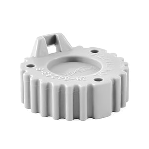 AHDC-16-9 - AHD Series -  End Cap for 9 Cavity Receptacle - Gray
