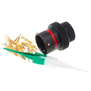 AS114-35PN - AS Series - Inline Receptacle Kit - Shell Size 14, 37 Cavity, Size 22 Pins, Red