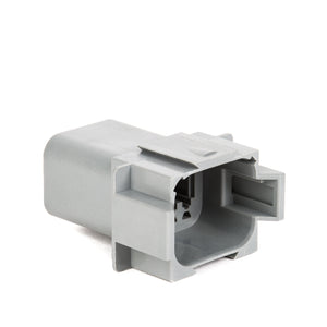 AT04-08PA - AT Series - 8 Pin Receptacle - A Key,  In-line, Gray