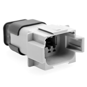 AT04-08PA-SRGRY - AT/SR01 Series - 8 Pin Receptacle - A Key, Latch Holder, Cap, Sealed, Strain Relief, Gray