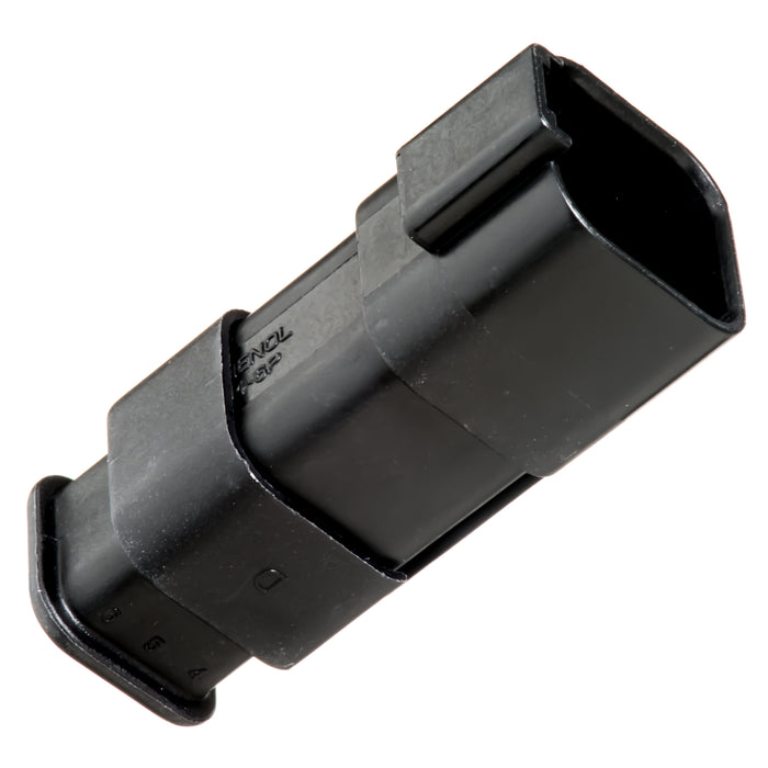 AT04-6P-SR01BLK - AT/SR01 Series - 6 Pin Receptacle - Strain Relief W/Endcap, Standard Seal, Black