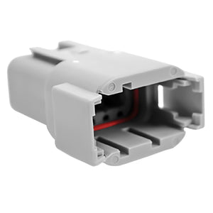 ATM04-08PA - ATM Series - 8 Pin Receptacle - A Key, Gray
