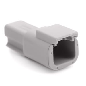 ATM04-2P - ATM Series - 2 Pin Receptacle - Gray