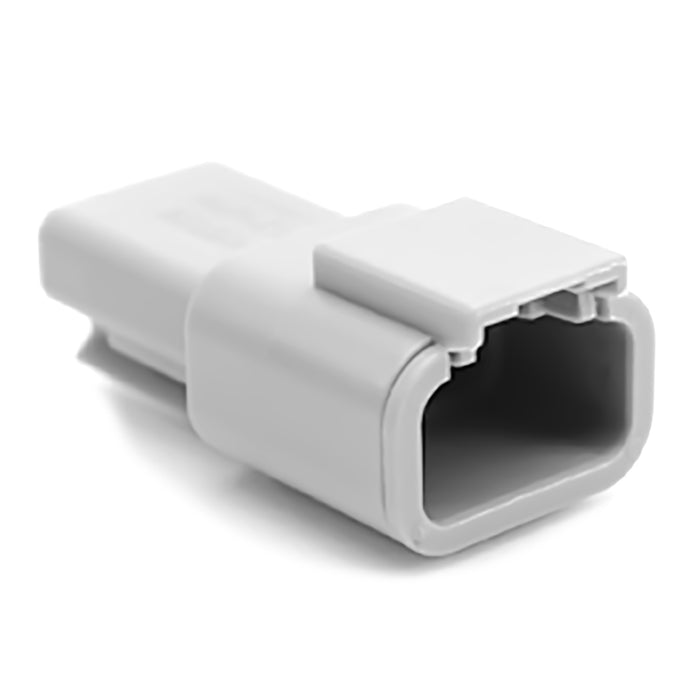 ATM04-3P - ATM Series - 3 Pin Receptacle - Gray