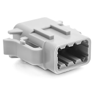 ATM06-08SA - ATM Series - 8 Socket Plug - A Key, Gray
