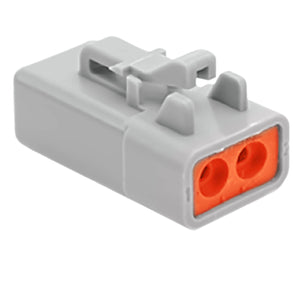ATP06-2S - ATP Series - 2 Socket Plug - Gray