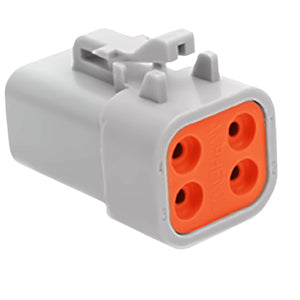 ATP06-4S - ATP Series - 4 Socket Plug - Gray