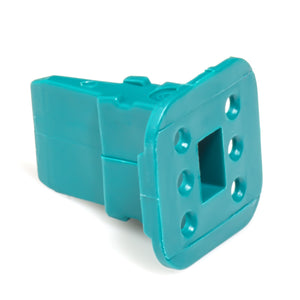 AW6S - AT Series -  Wedgelock for 6 Socket Plug - Green