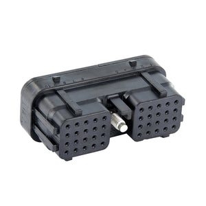 DRC26-40SB - DRC Series - 40 Cavity Plug - B Key, In-Line, Black