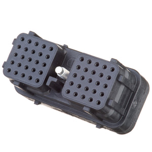 DRC26-50S01 - DRC Series -50 Cavity Plug -  01 Key, In-line, Black