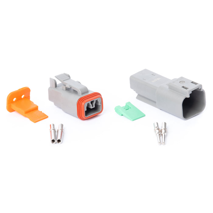 DT02GY-K - DT Series - 2 Pin Solid Contact Connector Kit