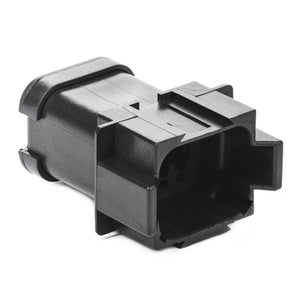 DT04-08PA-CE03 - DT Series - 8 Pin Receptacle - A Key, Reduced Dia. Seals, End Cap, Black