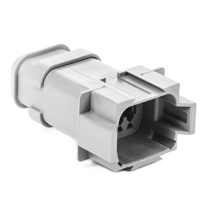 DT04-08PA-E008 - DT Series - 8 Pin Receptacle - A Key, Shrink Boot Adapter, Gray