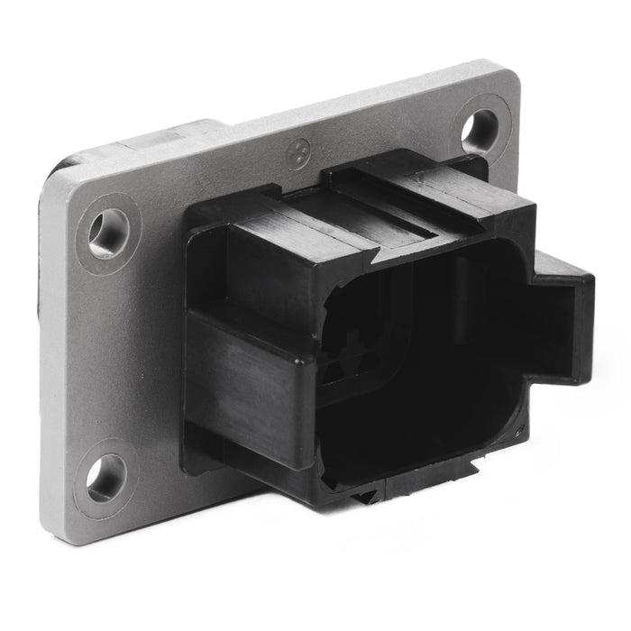 DT04-08PB-L012 - DT Series - 8 Pin Receptacle - B Key, Flange, Black