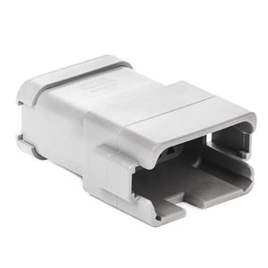 DT04-12PA-BE02 - DT Series - 12 Pin Receptacle - Enhanced A Key, End Cap, Gray