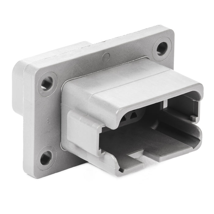 DT04-12PA-BL04 - DT Series - 12 Pin Receptacle - Enhanced A Key, Flange, Gray