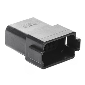 DT04-12PA-CE02 - DT Series 12 - Pin Receptacle - Reduced Dia. Seal -Black