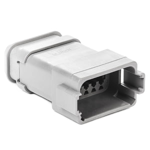 DT04-12PA-E008 - DT Series - 12 Pin Receptacle - A Key, Shrink Boot Adapter, Gray