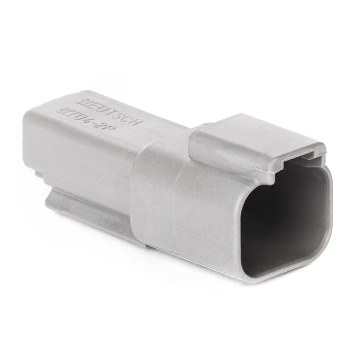 DT04-2P-C015 - DT Series -  2 Pin, Receptacle - Reduced Dia. Seal, Gray