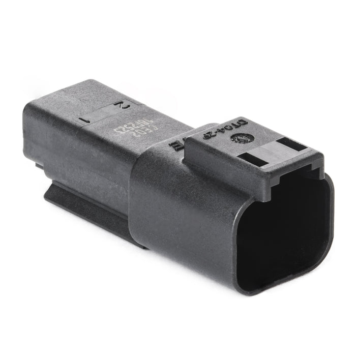 DT04-2P-CE02 - DT Series -  2 Pin Receptacle - Reduced Dia. Seal, Black