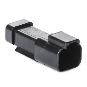 DT04-2P-CE03 - DT Series - 2 Pin Receptacle - Reduced Dia. Seals, End Cap, Black
