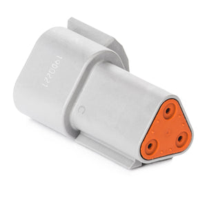 DT04-3P - DT Series - 3 Pin Receptacle - Gray