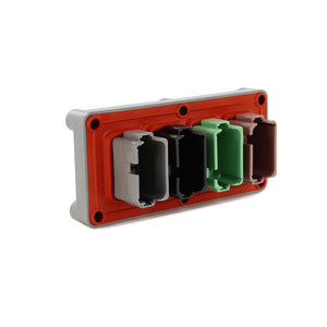 DT04-48P-B016 - DT Series - 12 Pin Receptacle - 48 Pin Receptacle - Enhanced A,B,C,D Key, Flange, Gray